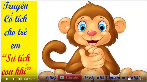 Truyện cổ tích cho trẻ em: Truyện cổ tích Sự tích con khỉ